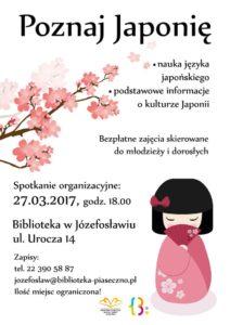 Poznaj Japonię - zajęcia językowe wfilii wJózefosławiu