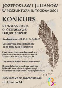 Konkurs nawspomnienia oJózefosławiu lub Julianowie