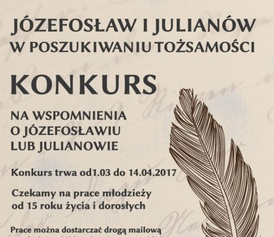 Konkurs na wspomnienia o Józefosławiu lub Julianowie