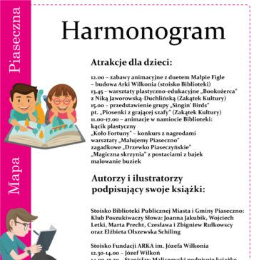 Atrakcje Festiwalu Pięknej Książki w Piasecznie